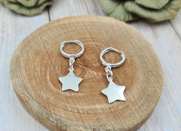 TINY Boucles argent - Pendentif étoile