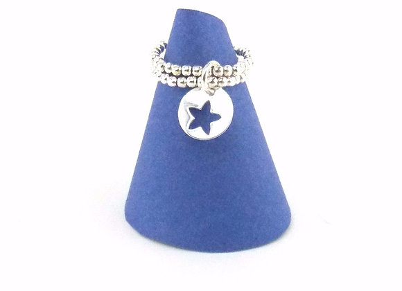 Bague argent 925 et pendentif motif étoile