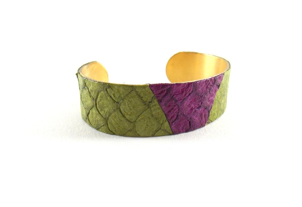 Bracelet cuir marin de Tilapia