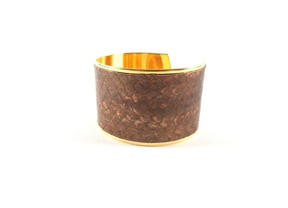 BAÏNES - Saumon chocolat reflets bronze (37 mm)