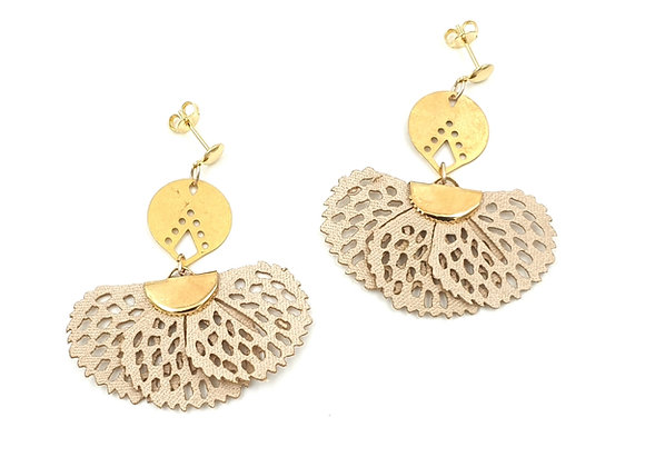 ISSEY - Boucles gold filled demi lune