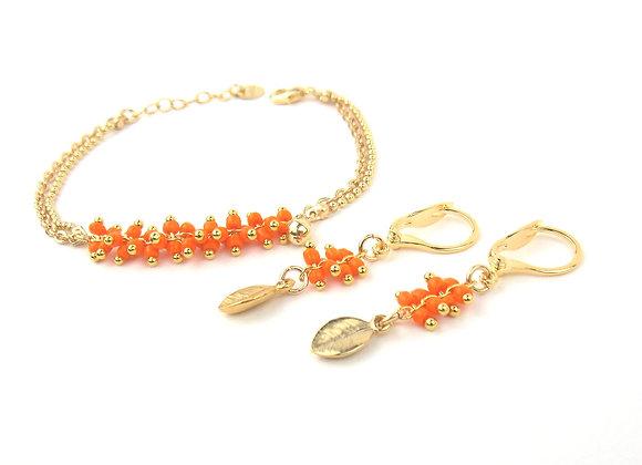 Parure ZOE orange