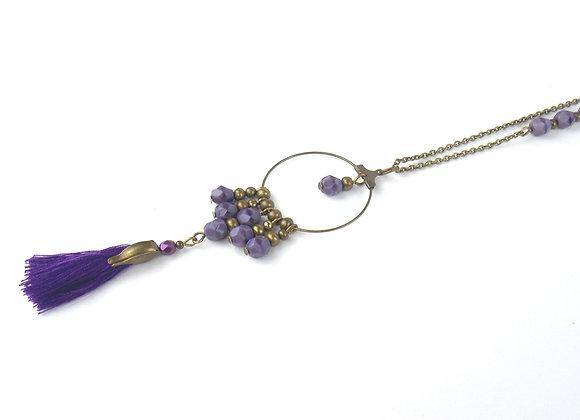 BOHO Chic -  Sautoir Violet marbré