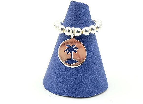 Bague argent 925 et pendentif palmier