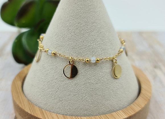 Bracelet gold filled phases de la lune