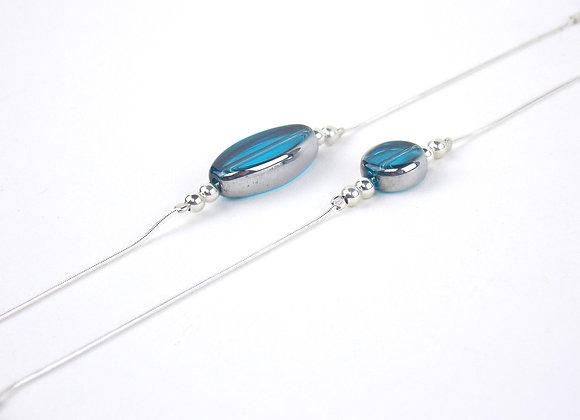 LUNA Bleu turquoise -  Bracelet argent 925