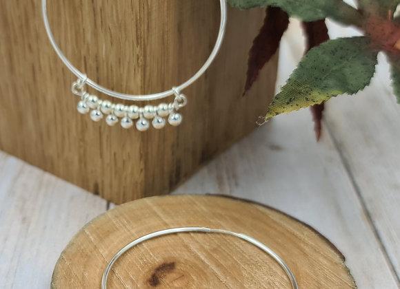 Créoles L argent 925 - perles rondes