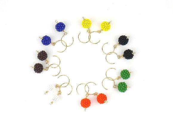 FANI version courte - boucles d'oreilles gold filled - boules de perles