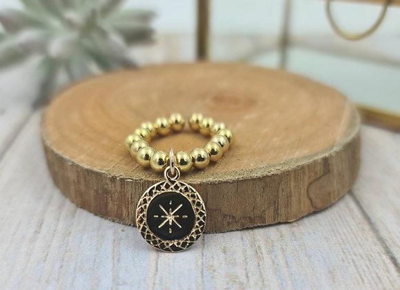 Bague gold filled 1 rang (4mm) - pendentif étoile polaire