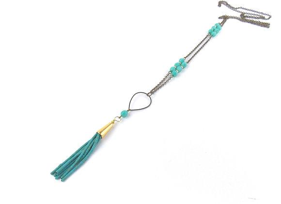 CABARET - Sautoir Turquoise