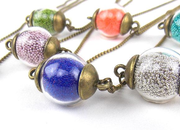 TINY BULLES - collier court ras du cou (7 couleurs au choix)