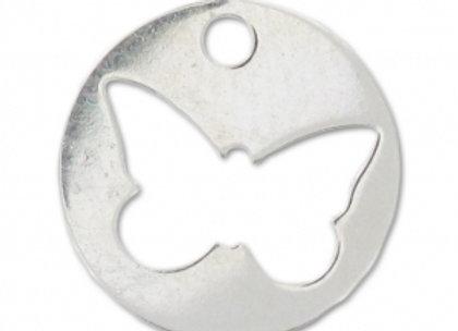 Bracelet cordon  - Pendentif papillon argent 925