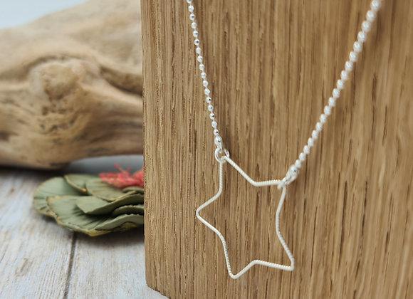 Collier argent 925 - pendentif étoile facettée