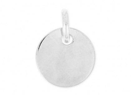 Bracelet cordon argent 925 -  médaille 11mm (gravure possible)
