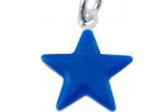 Bracelet cordon  - Pendentif étoile émaillée et argent 925