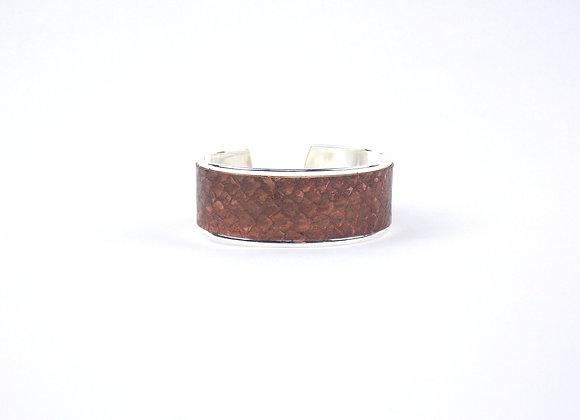 BAÏNES - Saumon chocolat reflets bronze (23 mm)