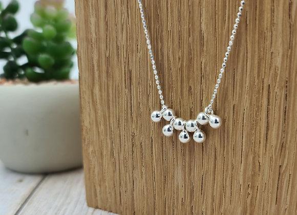 Collier court en argent 925 - gouttes de perles