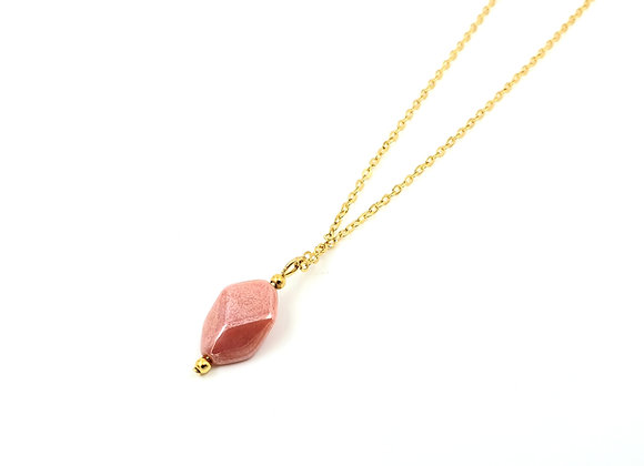 Collier gold filled et pendentif perle céramique