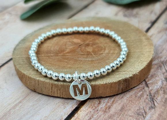 Bracelet argent - Perles 4mm - personnalisable