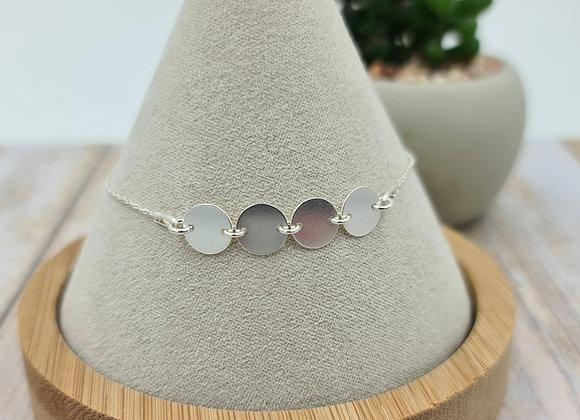 Bracelet chaîne fine argent 925 - petites medailles