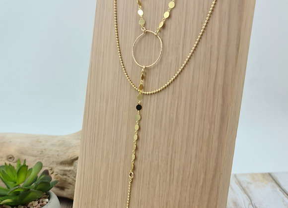 """Collection  """"Mademoisellesvp"""" - collier double rang plaqué or"""
