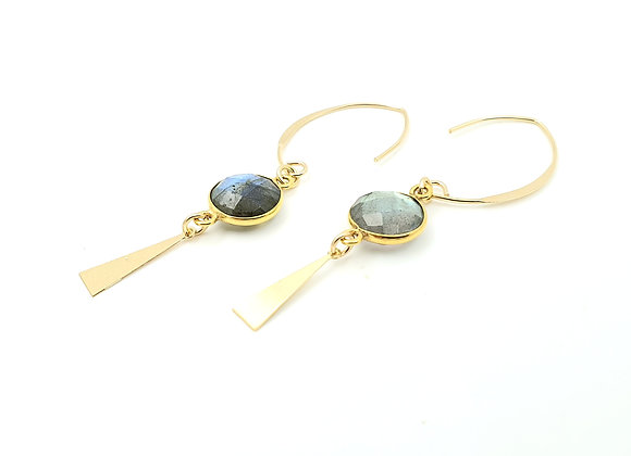 Collection GALATEE : les crochets ovales Labradorite