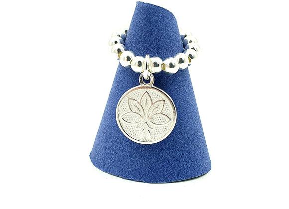 Bague argent 925 - pendentif fleur de lotus
