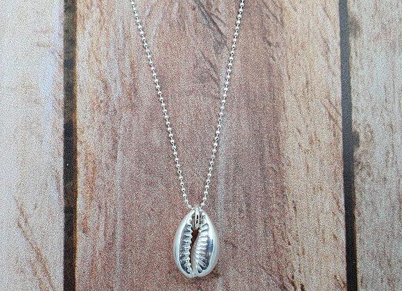 collier court en argent 925 - pendentif coquillage cauri