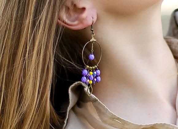 Eloha - Boucles violet et canari