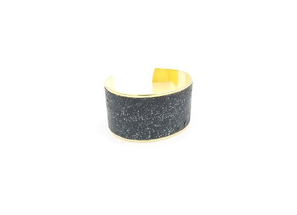 Saumon noir pailleté (37 mm)