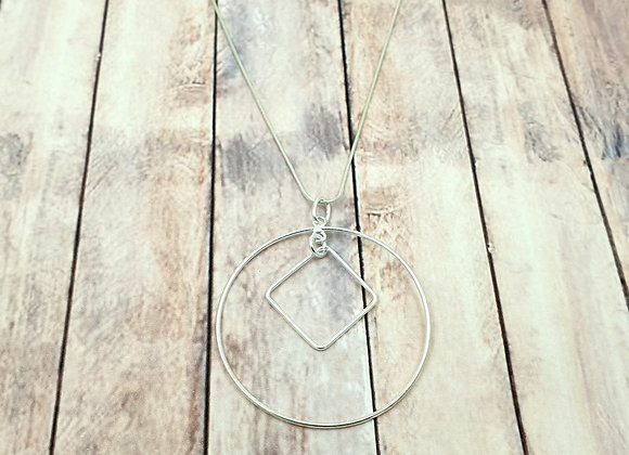 Collier argent 925 - pendentif anneau