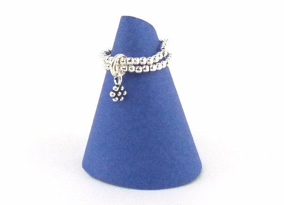 Bague argent 925 et pendentif motif petite fleur