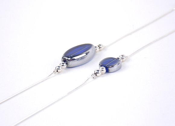 LUNA Bleu roi -  Bracelet argent 925