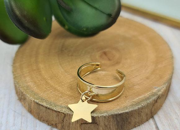 Bague réglable - pendentif étoile