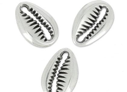 Bracelet cordon  - Pendentif coquillage argent 925