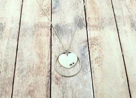 Collier argent 925 - pendentif coeur