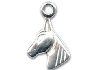 Bracelet cordon  - Pendentif cheval en argent 925
