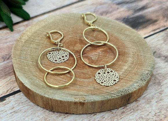 """Les lumineuses ! Boucles anneaux entrelacés version """"désaccordée"""""""