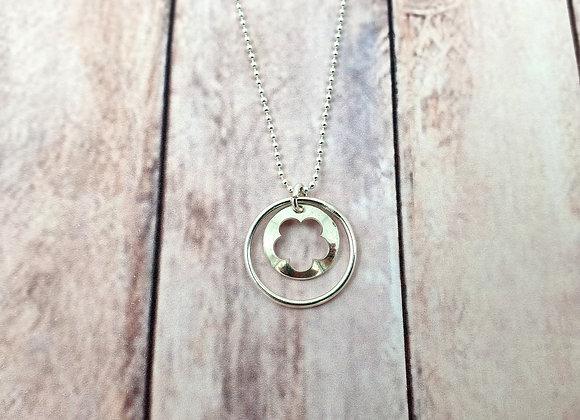 Collier argent 925 - pendentif Fleur