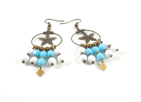 Eloha - Boucles bleu et blanc
