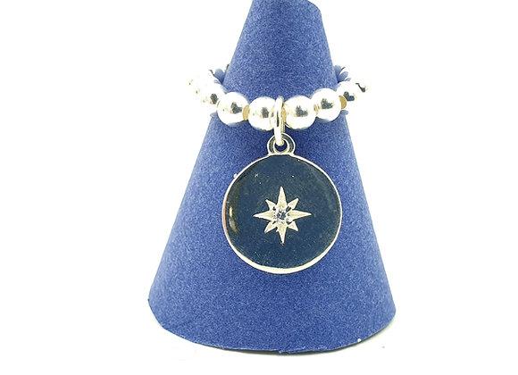 Bague argent 925 et pendentif étoile polaire