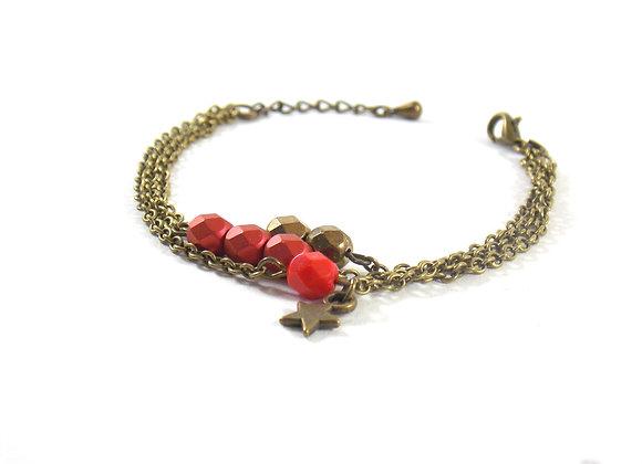 Estrella  - bracelet triple chaîne