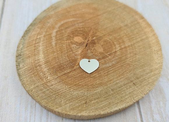 Pendentif coeur très petit modèle avec gravure recto incluse