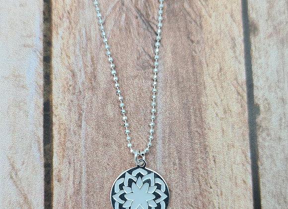 Collier court en argent 925 - pendentif mandala