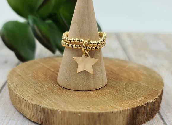 Bague gold filled 2 rangs - pendentif au choix