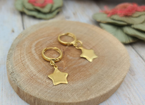 TINY Boucles gold-filled- Pendentif étoile