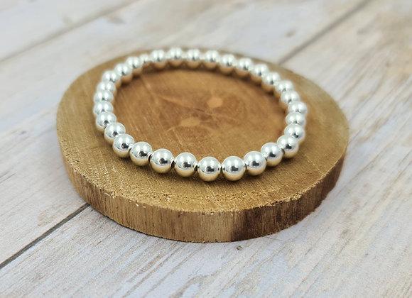 Bracelet argent 925 - perles 6mm