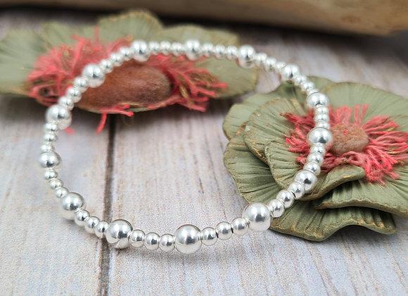 Bracelet argent 925 - perles 3mm et 5mm