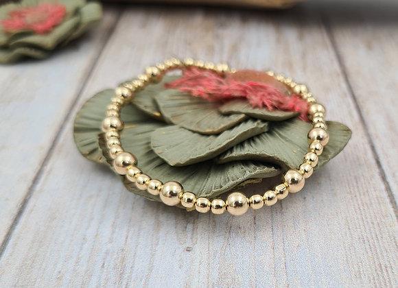 Bracelet gold-filled - perles 3mm et 5mm