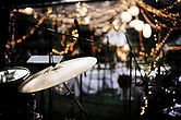 Drum set for a live wedding band